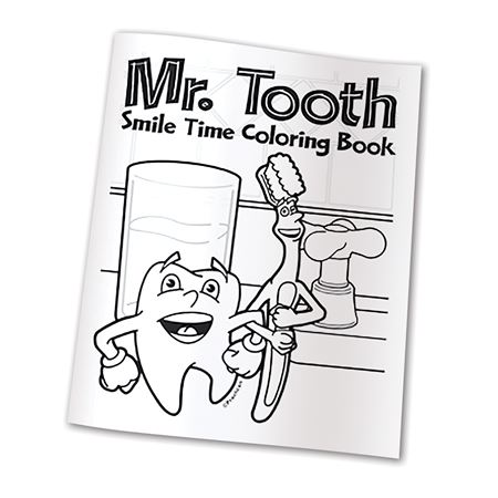 - Mr. Tooth Coloring Books Practicon Dental Supplies