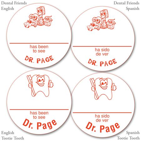 Personalized Red Name-A-Round Stickers - Bulk