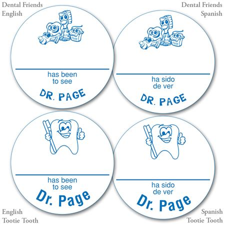 Personalized Blue Name-A-Round Stickers - Bulk 500/Roll
