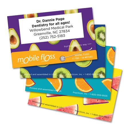 Personalized Fruits Mobile Floss Trial Pack 100/Pk