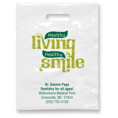9 X 12 Healthy Smile Patient Care Bags - Bulk