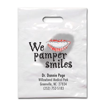 9 X 12 Pamper Smiles Patient Care Bags - Bulk