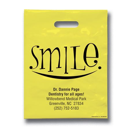 9 X 12 Big Smile Patient Care Bags - Bulk