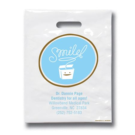 9 X 12 Smile Floss Patient Care Bags - Bulk 500/Pack