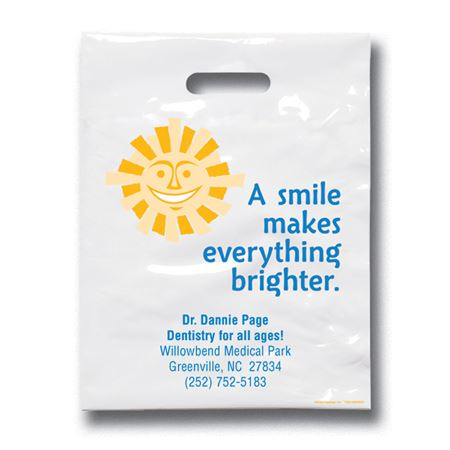 7 3/4 X 9 Sunshine Smile Patient Care Bags - Bulk 500/Pack