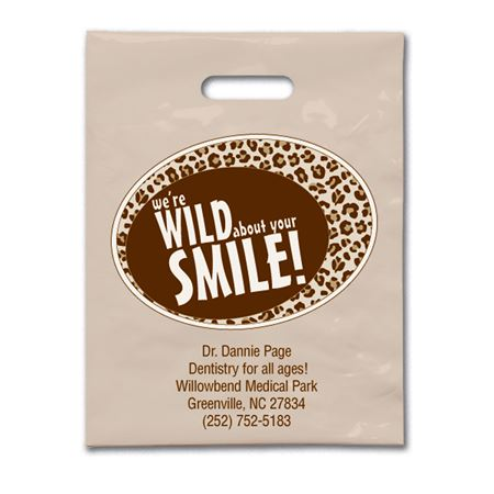 7 3/4 X 9 Wild Smile Patient Care Bags - Bulk