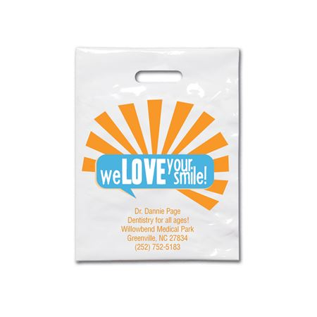 9 X 12 We Love Your Smile Patient Care Bags - Bulk