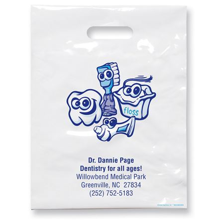 7 3/4 X 9 Dental Friends Patient Care Bags - Bulk