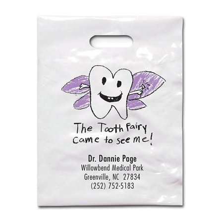 7 3/4 X 9 Tooth Fairy Patient Care Bags - Bulk