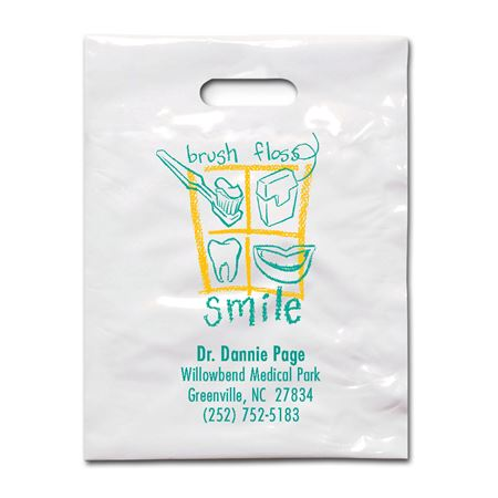 9 X 12 Brush Floss B Patient Care Bags - Bulk