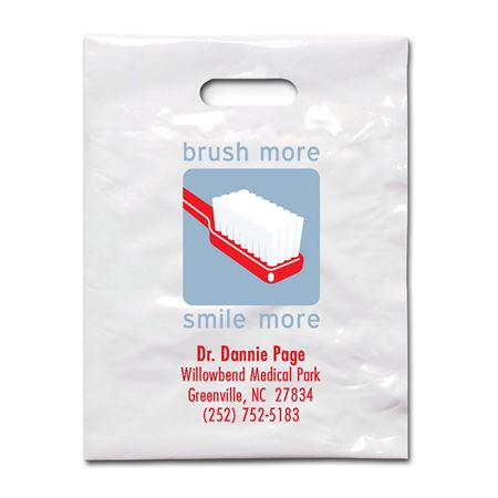 7 3/4 X 9 Brush More Patient Care Bags - Bulk