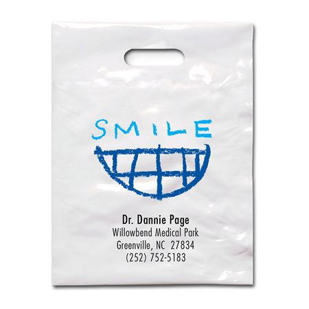 7 3/4 X 9 Crayon Smile Patient Care Bags - Bulk