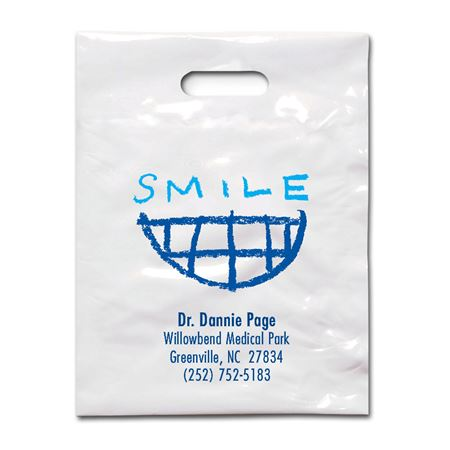 9 X 12 Crayon Smile Patient Care Bags - Bulk