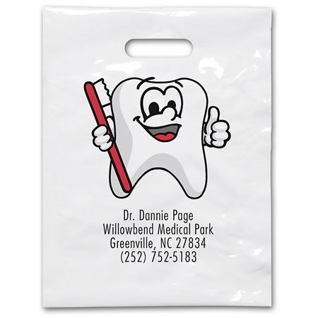 9 X 12 Tootie Tooth Patient Care Bags - Bulk 100/Pack