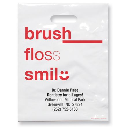 7 3/4 X 9 Brush Floss C Patient Care Bags - Bulk