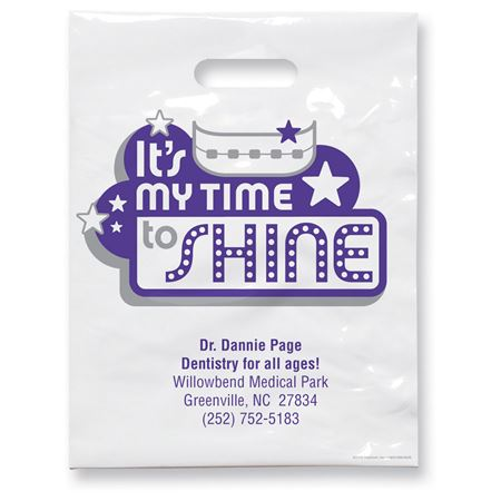 7 3/4 X 9 My Time To Shine Patient Care Bags - Bulk