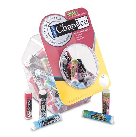 Chap-Ice Assorted Full-Size Lip Balm Fishbowl 60/Each