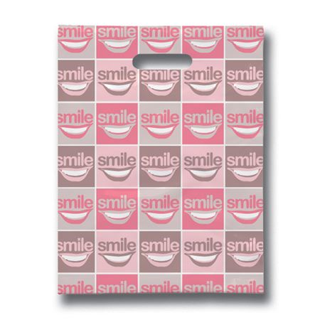 8 X 10 All Smiles Scatter Print Bags - Bulk