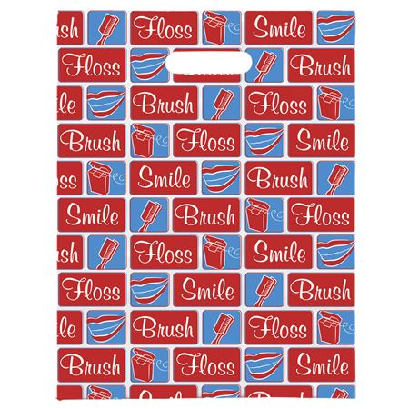 8 X 10 Dental Building Blocks Scatter Print Patient Bags - Bulk