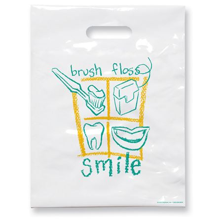 7 3/4 X 9 Brush Floss B Non-Personalized Patient Care Bags - Bulk