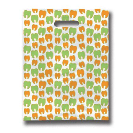 8 X 10 Many Mini Molars Scatter Print Patient Bags - Bulk