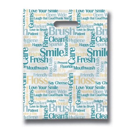 9 X 12 Tooth Talk Scatter Print Bag - Bulk 100/Pack
