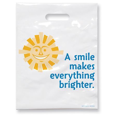 9 X 12 Sunshine Smile Patient Care Bags - Bulk