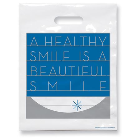 7 3/4 X 9 Beautiful Smile Patient Care Bags - Bulk 100/Pack