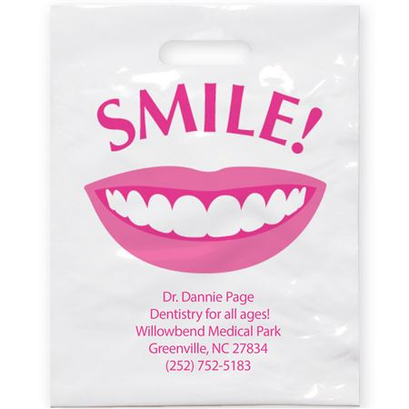 7 3/4 X 9 Smile Patient Care Bags - Bulk