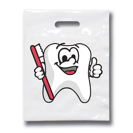 9 X 12 Tootie Tooth Patient Care Bags - Bulk