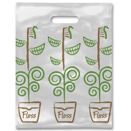 8 X 10 Growing Smiles Scatter Print Bags - Bulk