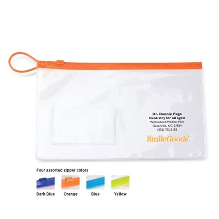 Personalized Clear Unfilled 6 Inch X 10 Inch SmileGoods Patient Paks