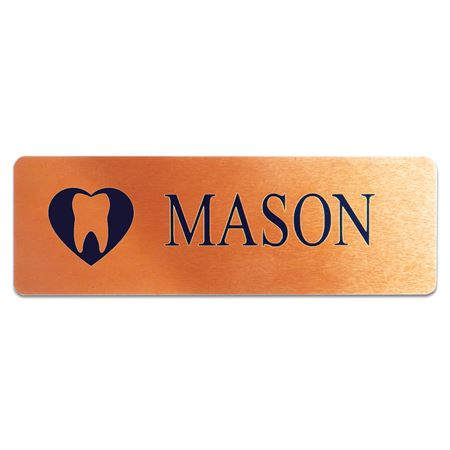 Satin Bronze Name Tag