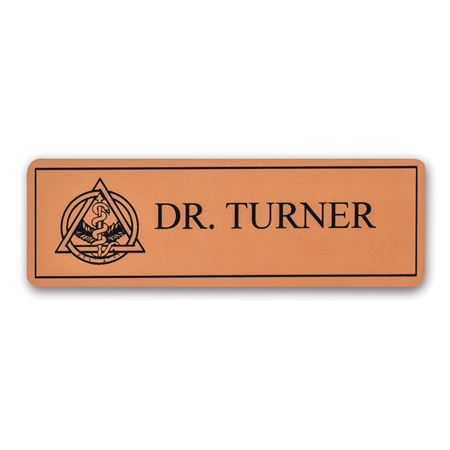 Trimmed Bronze Name Tag