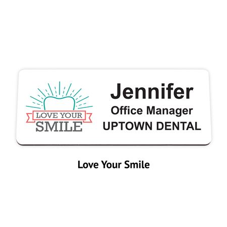 Full Color Plastic Name Badge