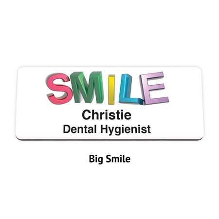 2-Line Full Color Plastic Name Badge