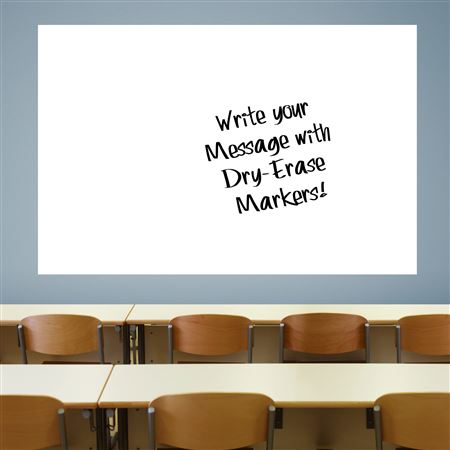 Jumbo White Dry Erase Decal
