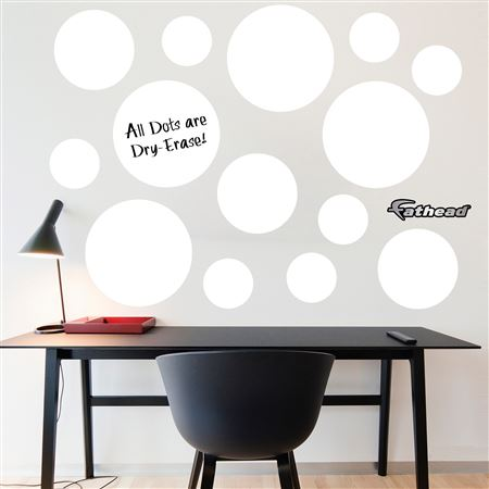 White Dry Erase Message Dots