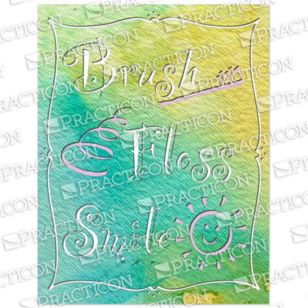 Brush Floss Smile B Practicare Postcard