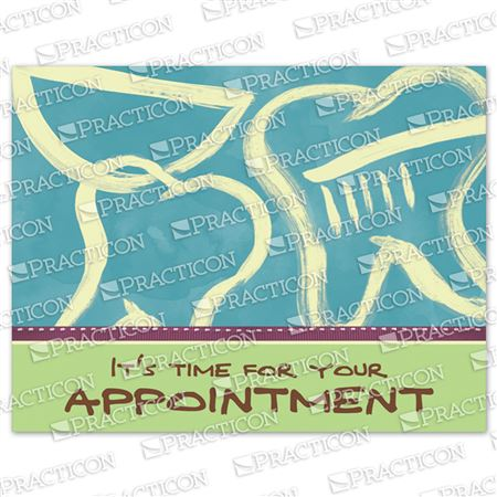 It's Time Appointment Practicare Postcard