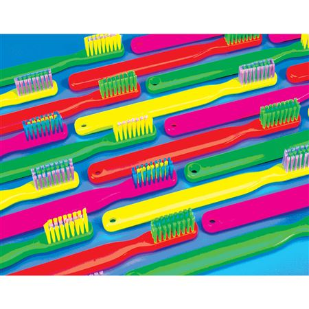 Neon Brushes Postcard