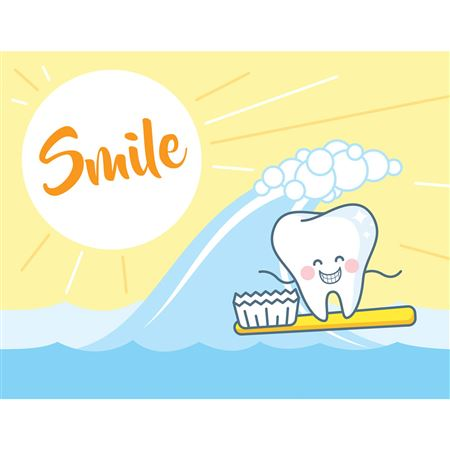 Surfs Up Smile Reminder Laser Card