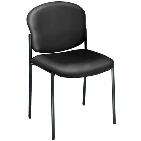 Vinyl Upholstered Armless Stacking Chair