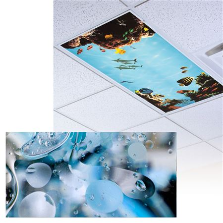 Blue Oil And Water Light Panel