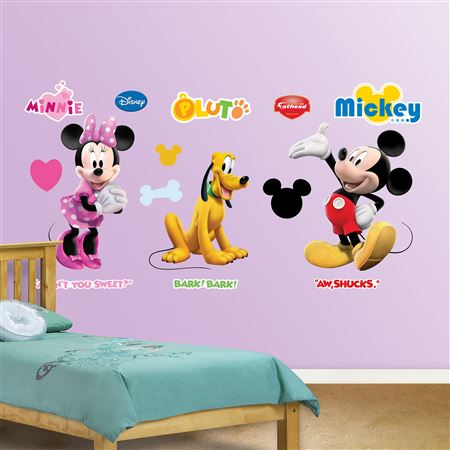 """Mickey, Minnie And Pluto Decal"""