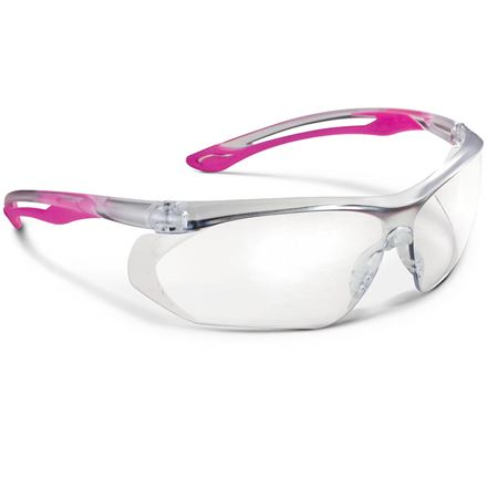 Parallax Anti-Fog Safety Glasses - Pink Clear 1/Each
