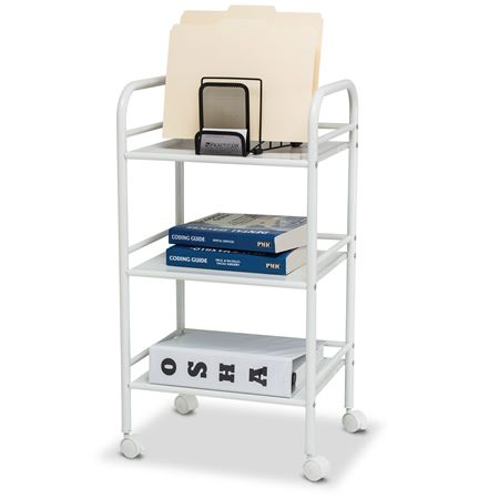 Lightweight Three-Shelf Office Cart