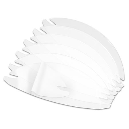 Dental Visor Replacement Mini-Shields 6/Pack