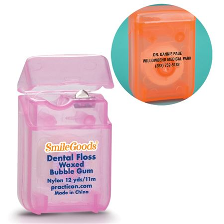 Personalized Bubble Gum Waxed Dental Floss
