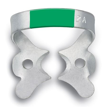 Fiesta No.2A Green Winged Rubber Dam Clamp